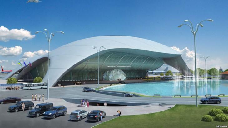 Проект будущего здания терминала